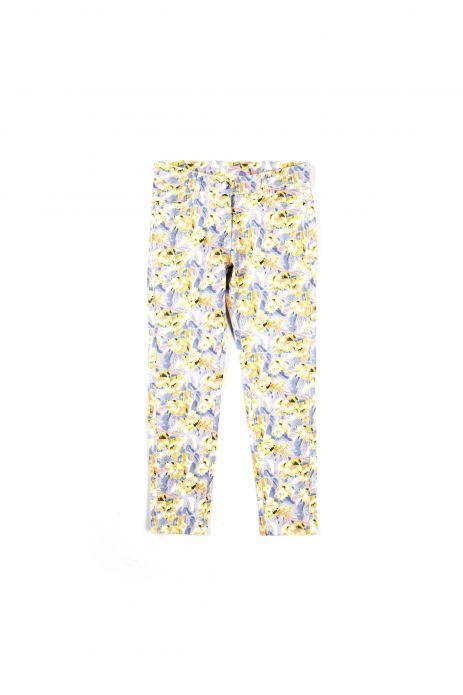 Spodnie tkaninowe w kwiaty