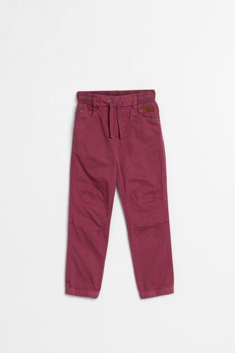 Spodnie tkaninowe w kolorze bordowym