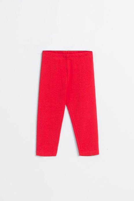 Leginsy z nogawkami 3/4 w kolorze czerwonym