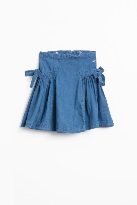 Spódnica jeansowa z kokardami na kieszeniach