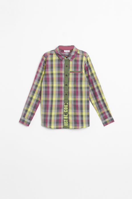 Koszula z kołnierzykiem w kolorową kratę