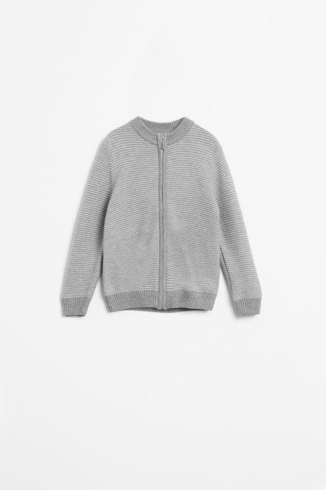 Sweter rozpinany w kolorze szarym