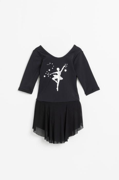 Body z tiulową spódniczką i aplikacją baletnicy